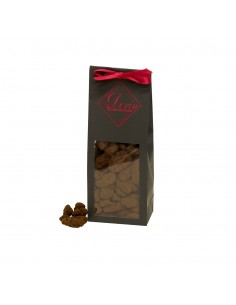 Noix de pécan caramélisées enrobées de chocolat noir 70%